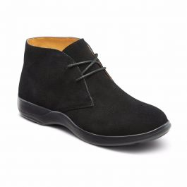 Comfort Womens Cara Casual Suede Leather Bootie Chukka Boot 11 Wide C//D Black Dr US