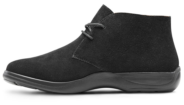 US Comfort Womens Cara Casual Suede Leather Bootie Chukka Boot Dr Black C//D 11 Wide