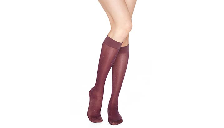 ff46f77fc Dr. Comfort Rejuva Sheer Dot Compression Knee-Highs 15-20 mmHg